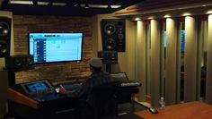 Studio session in Nashville! At Blue Grotto Sound Studio!
