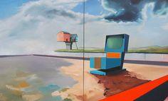 "Saatchi Online Artist Rudolf Janák; Painting, ""Automatic reason"" #art"