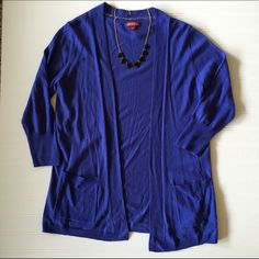 Open blue cardigan!!!! Like new, so cute! Pockets on either side. Merona Sweaters Cardigans