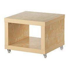 New Ikea Lack Coffee Side Table On Casters Birch Effect