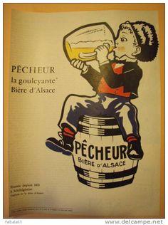 +++Pub BIERE D'ALSACE PECHEUR 1962