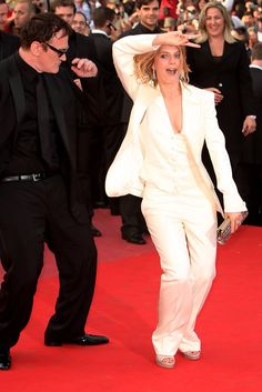 Quentin Tarantino and Melanie Laurent attend the Inglourious Basterds Premiere held at the Palais Des Festivals during the 62nd International Cannes Film Festival on May 20th, 2009 in Cannes, France