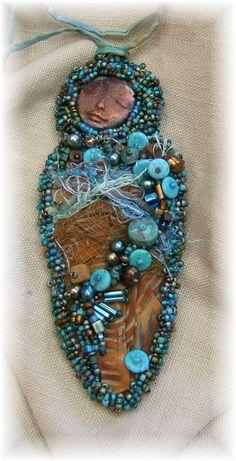 Spirit Goddess Pendant by Cindy Chavez