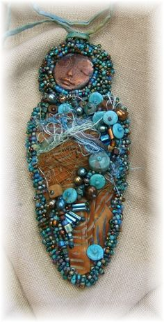 Spirit Goddess Pendant by Cindy Chavez...I teach this workshop in person and through www.craftartedu.com