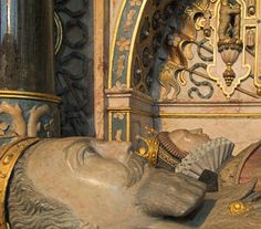 Tomb Effigies of Robert Dudley, Earl of Leicester, and Lettice Knollys, Countess of Leicester, Warwick, Warwickshire