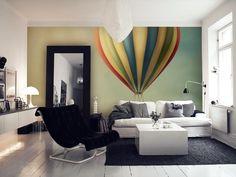 hot air balloon wall mural/wallpaper from Happywall.com