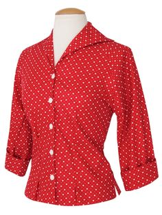 fc3c066f90b Raglan Blouse Red Heart from Vivien of Holloway