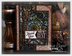 Hello Lovely Metal Embossed Faux Patina Card by ratona27 - Cards and Paper Crafts at Splitcoaststampers