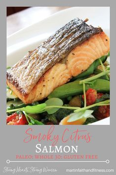 500 Error This Smoky Citrus Salmon is delicious easy healthy and your family will love it Great on top of a salad or served with rice and veggies Weeknight Meals, Easy Meals, Clean Eating Recipes, Healthy Eating, Healthy Snacks For Kids, Kid Snacks, Cooking Salmon, Whole 30 Recipes, Paleo Recipes