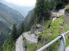 Motorcycle tour through the Alps. Preferably Germany to Italy and then along the coast to Spain and Portugal. This is the Splugen Pass in Italy.