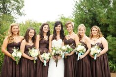 Rustic, Autumn, Chocolate Brown Wedding -  Bridesmaids,  Courtney Sawyer