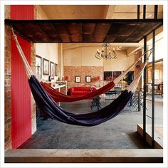 Red & blue hammocks