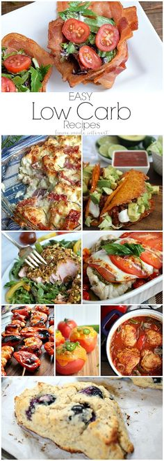 These easy low carb recipes and low carb substitutions make eating low carb simple. We have healthy low carb recipes for people on Atkins diet, Ketogenic diet, LCHF diet, whatever kind of low carb diet that is out there. These low carb recipes are mu Healthy Low Carb Recipes, Ketogenic Recipes, Healthy Foods To Eat, Diet Recipes, Lunch Recipes, Healthy Eating, Primal Recipes, Paleo Meals, Flour Recipes
