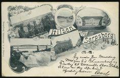 Østfold fylke SARPSBORG, Hilsen fra. Fembilders s/hv  Utg A.Dürendahl Postgått 1900 Personalized Items