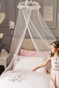 Hung Princess Bed Canopy Curtain Crib Netting Lace Baby Round Mosquito Net Children Room Decoration Photography Props Baby Tent Possessing Chinese Flavors Baby Bedding Mother & Kids