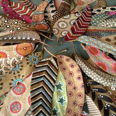 fabric feathers or leaves