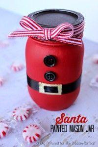Santa-Painted-Mason-Jar-1 - DIY Projects for Making Money - Big DIY Ideas