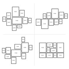 10er Bilderrahmen-Collage Photolini Basic Collection Modern Weiss aus MDF inklusive Zubehör / Foto-Collage / Bildergalerie / Bilderrahmen-Set