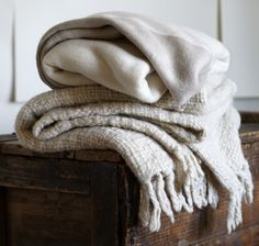 "Nice soft light and simple, ""true"" way stack of blankets"