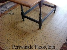 Floorcloth, a historical floor covering made from... painted cloth.