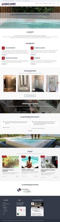 Création d'un site web pour une entreprise à Saint-Nazaire (44) spécialisée en plomberie, chauffage et spas à débordement. Page d'accueil du site DENIE LAFONT.