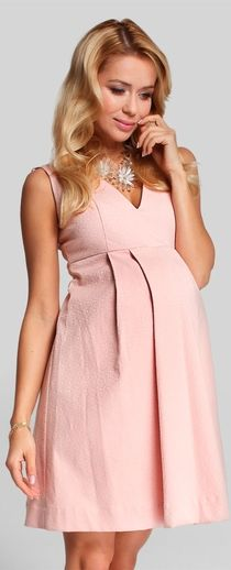 Pink maternity dress for the season image 1 of happy mum passion pudre pink maternity dress JGWTLYL Cute Maternity Outfits, Maternity Gowns, Maternity Pants, Stylish Maternity, Maternity Style, Maternity Pictures, Pregnancy Wardrobe, Pregnancy Outfits, Pregnancy Wear