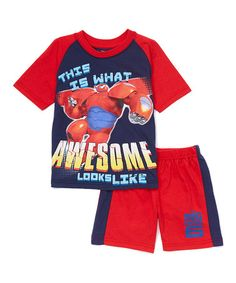 Another great find on #zulily! Big Hero 6 Raglan Tee & Shorts - Toddler & Boys by Big Hero 6 #zulilyfinds