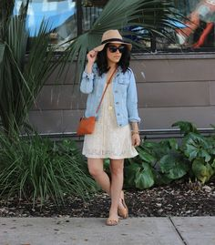 A Love Affair With Fashion : Denim, Lace & Neutrals
