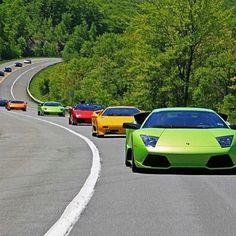 """How Many #Lamborghini Can You Count? Name Each Different #Lamborghini You See. Tag Your Friends Below. Via @LamborghiniExotic #CarsGasm"""