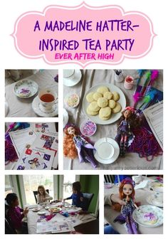 A Madeline Hatter-Inspired Tea Party | Ever After High via @seriouskrystyn #typeaparent