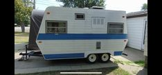 After casually looking at ads for trailers for over a year, I came across an ad for a 1978 Traveliner Rover trailer located in Windsor, ON on August Vinyl Tile Flooring, Vinyl Tiles, Building A Tiny House, Trailer Remodel, Exterior Lighting, Upcycled Furniture, Rescue Dogs, Recreational Vehicles, Interior And Exterior