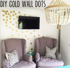 how to make your own gold wall dots for only $2