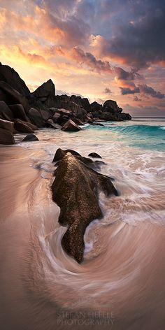~~Ocean Symphony ~ La Digue, Seychelles by Stefan Hefele~~ Les Seychelles, Seychelles Honeymoon, Seychelles Beach, Seychelles Islands, Cities, Destinations, All Nature, Natural World, Beautiful Beaches