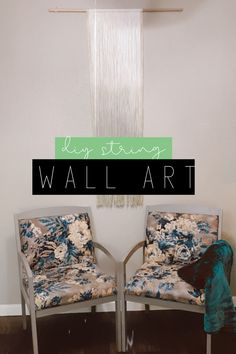 Hey guys here we are again with another fabulous string art video! I did this one two ways one I used just the colored string and the other I used chalk paint as a dye! Check out how I did this and let me know what you think in the comments below. String Wall Art, Diy Wall Art, Diy Wall Decor, Diy Home Decor, Room Decor, Best Friend Activities, Handmade Wall Hanging, Pinterest Diy, Chalk Paint