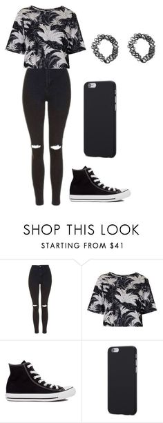 """Outfit"" by andreeadeeix12 ❤ liked on Polyvore featuring Topshop and Converse #teenageoutfits"