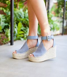 I would love some wedges like this may in mushroom or cognac suede. @stitchfix