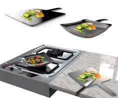 The Curling Pan - A Cutting Board that Shape Shifts into a Frying Pan