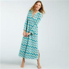299484a935 Bedhead Pajamas Stretch Caftan Blue Zig Zag Bedhead Pajamas
