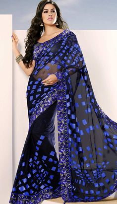 This gorgeous black coloured #nettsaree having graceful embroidery finished with resham, zari, print and patch work. Its superbly designed border is innovative and creative to give you perfect look for any occasion