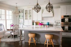 gray kitchen island | Courtney Dox