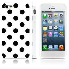 iPhone 5S Case, MagicMobile Ultra Slim Thin Durable Fashion Cute Glossy Cover for iPhone 5 TPU Polka Dot Pattern iPhone 5S Case [Dual Color: White - Black]. The Magic Mobile for Apple iPhone 5 5s Polka Dot Case provides full protection in the back and sides of the phone. Product made with special TPU material which cannot be broken when twisted. Really easy and fast to insert the phone; has perfect holes for the charger, the headphones and the camera. Product is made of high quality…