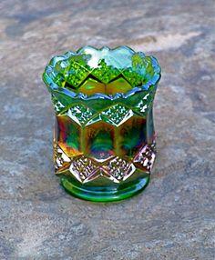 carnival glass.
