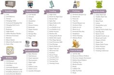 Printable Baby Checklist | Click here for a printable Baby Registry Checklist pdf