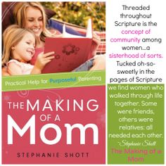 Because MOMS are BETTER TOGETHER! Always have been. Always will be!  Pre-ORDER THE MAKING OF A MOM TODAY!  http://www.amazon.com/The-Making-Mom-Practical-Purposeful/dp/0830770577/ref=sr_1_1?ie=UTF8&qid=1400040253&sr=8-1&keywords=The+Making+of+a+Mom