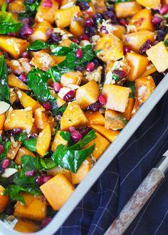 Feta, Vegetarian Recipes, Healthy Recipes, Swedish Recipes, Scampi, Snacks, Grain Free, Food Inspiration, Sweet Potato
