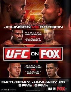 UFC on Fox 6: Johnson vs. Dodson Ergebnisse - Results