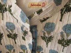 camicia plissettata di cotone stampato