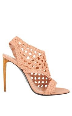 OTHELLO SHOES~ Beautifully crafted, the Othello shoe by Roland Mouret is the perfect alternative to the classic sandal. With a unique woven-style structure, these shoes add an edgy yet feminine aesthetic to any ensemble. Crafted in blush pink lambskin, a contrasting stiletto heel makes for the finishing touch. #ss16 #fashionblogger #shopping