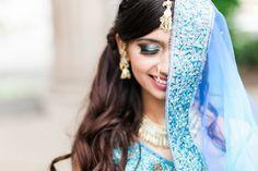 Indian bride inspiration in a blue lengha dress | luma weddings