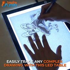 LED Artist Tracing Table 😍 Take your drawings to the next level with this versatile LED Artist Tracing Table. Whether you're a professional artist or an amateur who just LOVES to draw, this tracing table with back-lit background makes it incredibly easy Drawing Tips, Painting & Drawing, Lion Drawing, Pastel Drawing, Art Sketches, Art Drawings, Painting Techniques, Art Tutorials, Diy Art